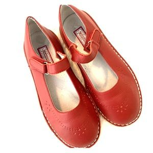 L'amour Brick Red Classic Mary Janes